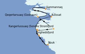 Itinerario de crucero Exploración polar 8 días a bordo del Silver Wind