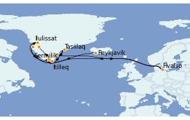 Itinéraire de la croisière Exploration polaire 14 jours à bord du L'Austral