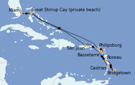 Itinerario de crucero Caribe del Este 13 días a bordo del Seven Seas Explorer