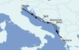 Itinéraire de la croisière Grèce & Adriatique 7 jours à bord du Celebrity Infinity