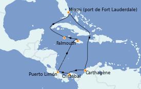 Itinerario de crucero Caribe del Oeste 11 días a bordo del Caribbean Princess