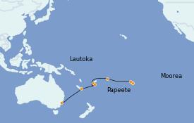 Itinéraire de la croisière Australie 2022 15 jours à bord du Norwegian Spirit