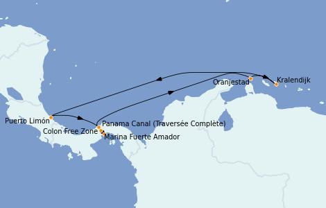Itinéraire de la croisière Caraïbes de l'Est 8 jours à bord du Norwegian Jewel