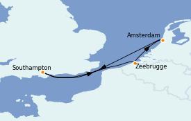 Itinéraire de la croisière Mer Baltique 5 jours à bord du Celebrity Silhouette