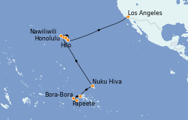 Itinerario de crucero Hawaii 19 días a bordo del MS Regatta