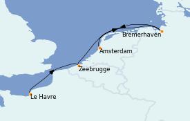 Itinéraire de la croisière Mer Baltique 5 jours à bord du Costa Fortuna