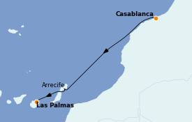 Itinéraire de la croisière Îles Canaries 10 jours à bord du MS World Explorer