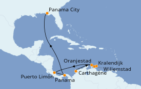 Itinéraire de la croisière Caraïbes de l'Est 10 jours à bord du Norwegian Sky