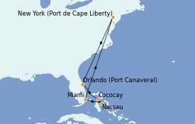 Itinerario de crucero Bahamas 9 días a bordo del Anthem of the Seas