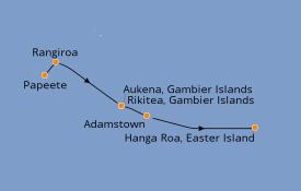 Itinéraire de la croisière Polynésie 14 jours à bord du Le Boréal