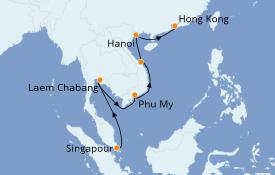 Itinéraire de la croisière Asie 15 jours à bord du Celebrity Solstice