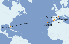 Itinéraire de la croisière Méditerranée 16 jours à bord du Seabourn Quest