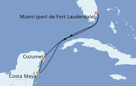 Itinéraire de la croisière Caraïbes de l'Ouest 6 jours à bord du Sky Princess