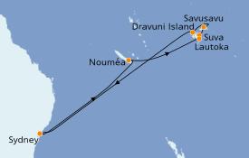 Itinéraire de la croisière Australie 2020 13 jours à bord du Sapphire Princess