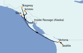 Itinerario de crucero Alaska 8 días a bordo del Ovation of the Seas