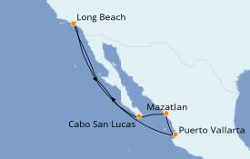 Itinéraire de la croisière Riviera Mexicaine 8 jours à bord du Carnival Panorama