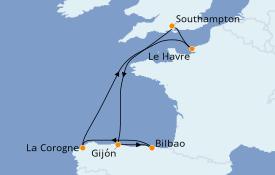 Itinéraire de la croisière Méditerranée 9 jours à bord du Anthem of the Seas