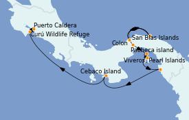 Itinéraire de la croisière Caraïbes de l'Ouest 11 jours à bord du Le Champlain