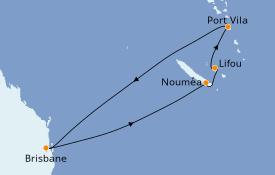 Itinéraire de la croisière Australie 2020 8 jours à bord du Radiance of the Seas