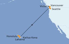 Itinéraire de la croisière Hawaii 13 jours à bord du Ovation of the Seas