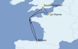 Itinéraire de la croisière Îles Britanniques 6 jours à bord du Anthem of the Seas