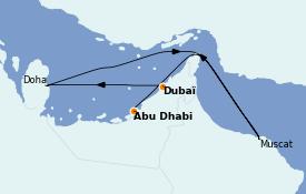 Itinéraire de la croisière Dubaï - Emirats 8 jours à bord du Costa Firenze