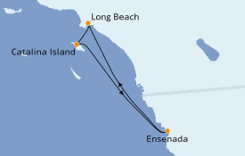 Itinéraire de la croisière Californie 5 jours à bord du Carnival Imagination