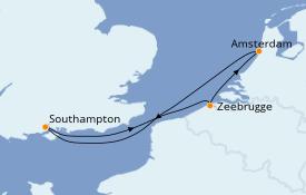 Itinéraire de la croisière Mer Baltique 5 jours à bord du Celebrity Apex