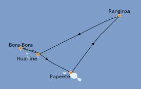 Itinéraire de la croisière Polynésie 10 jours à bord du Le Boréal