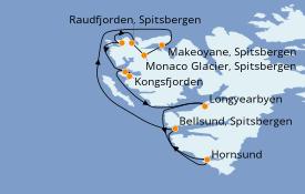 Itinerario de crucero Exploración polar 8 días a bordo del L'Austral
