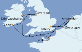Itinéraire de la croisière Mer Baltique 10 jours à bord du Norwegian Jade