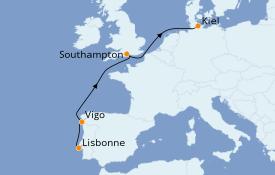 Itinéraire de la croisière Méditerranée 7 jours à bord du MSC Virtuosa