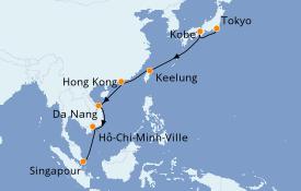 Itinéraire de la croisière Asie 17 jours à bord du Azamara Pursuit