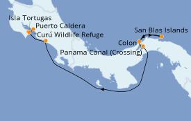 Itinéraire de la croisière Riviera Mexicaine 8 jours à bord du