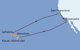 Itinéraire de la croisière Hawaii 16 jours à bord du Grand Princess