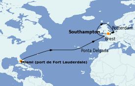 Itinerario de crucero Mar Báltico 15 días a bordo del Emerald Princess