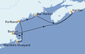 Itinéraire de la croisière Canada 8 jours à bord du Norwegian Gem