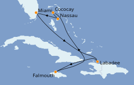 Itinéraire de la croisière Bahamas 8 jours à bord du Symphony of the Seas