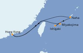 Itinéraire de la croisière Asie 7 jours à bord du Norwegian Spirit