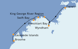 Itinerario de crucero Australia 2022 11 días a bordo del Le Lapérouse