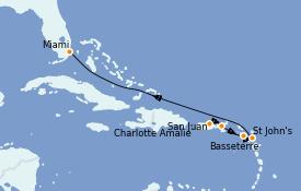 Itinéraire de la croisière Caraïbes de l'Est 7 jours à bord du Explorer of the Seas