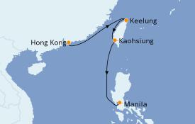 Itinéraire de la croisière Asie 7 jours à bord du Silver Spirit