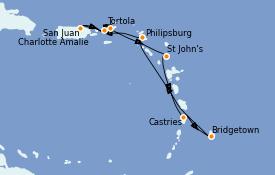 Itinéraire de la croisière Caraïbes de l'Est 8 jours à bord du Vision of the Seas