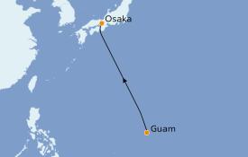 Itinéraire de la croisière Asie 6 jours à bord du Le Soléal