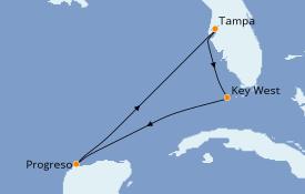 Itinéraire de la croisière Caraïbes de l'Ouest 6 jours à bord du MSC Armonia
