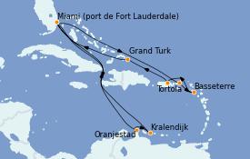 Itinerario de crucero Caribe del Este 17 días a bordo del Discovery Princess