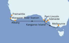 Itinéraire de la croisière Australie 2020 10 jours à bord du Sapphire Princess