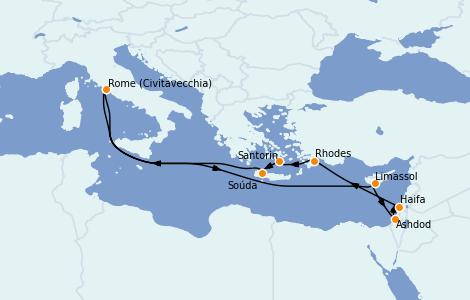 Itinéraire de la croisière Grèce & Adriatique 12 jours à bord du Odyssey of the Seas