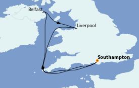 Itinéraire de la croisière Îles Britanniques 7 jours à bord du Anthem of the Seas