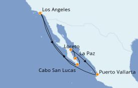 Itinéraire de la croisière Riviera Mexicaine 11 jours à bord du Star Princess